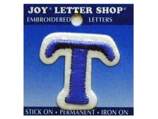 "Iron-On Letter ""T"" Embroidered 1 1/2 in. Blue"