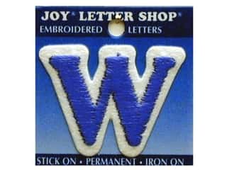 "Iron-On Letter ""W"" Embroidered 1 1/2 in. Blue"