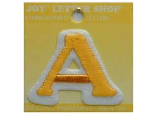 "Iron-On Letter ""A"" Embroidered 1 1/2 in. Gold"