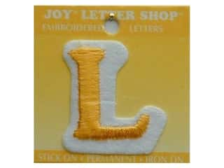 "Irons Joy Letter Shop Iron On Gold: Joy Lettershop Iron-On Letter ""L"" Embroidered 1 1/2 in. Gold"