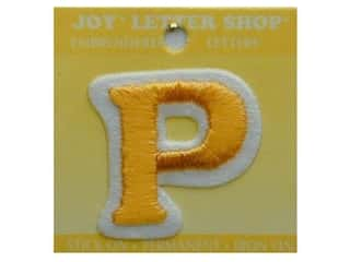 "Iron-On Letter ""P"" Embroidered 1 1/2 in. Gold"