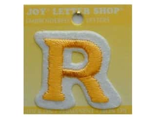 "Irons Joy Letter Shop Iron On Gold: Joy Lettershop Iron-On Letter ""R"" Embroidered 1 1/2 in. Gold"