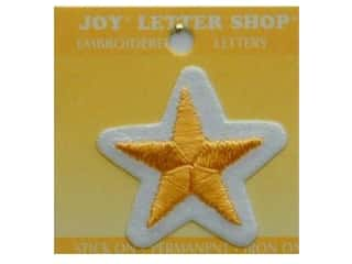 Star Thread $8 - $38: Joy Lettershop Iron-On Character Star Embroidered 1 1/2 in. Gold