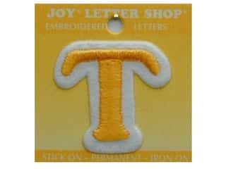 "Irons Joy Letter Shop Iron On Gold: Joy Lettershop Iron-On Letter ""T"" Embroidered 1 1/2 in. Gold"