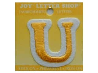 "Iron-On Letter ""U"" Embroidered 1 1/2 in. Gold"