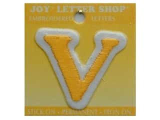 Letter Shop Iron On Gold V