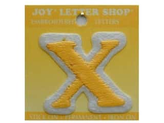 "Iron-On Letter ""X"" Embroidered 1 1/2 in. Gold"