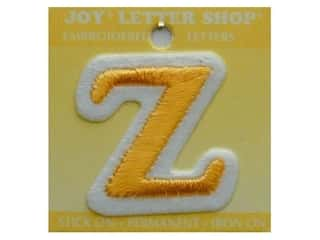 "Irons Joy Letter Shop Iron On Gold: Joy Lettershop Iron-On Letter ""Z"" Embroidered 1 1/2 in. Gold"