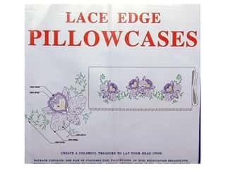 Pillowcase White Lace Orchid & Vines