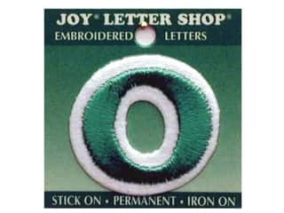 "Sports $0 - $2: Joy Lettershop Iron-On Number ""0"" Embroidered 1 1/2 in. Green"