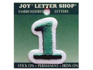 "Iron-On Number ""1"" Embroidered 1 1/2 in. Green"
