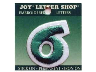 "Iron-On Number ""6"" Embroidered 1 1/2 in. Green"