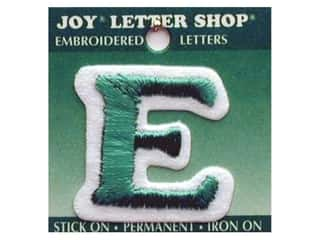 "Iron-On Letter ""E"" Embroidered 1 1/2 in. Green"