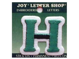 "Iron-On Letter ""H"" Embroidered 1 1/2 in. Green"