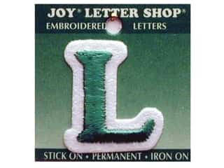 "Iron-On Letter ""L"" Embroidered 1 1/2 in. Green"