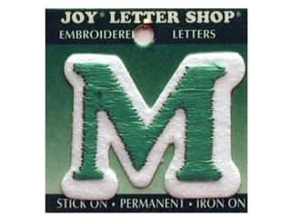 "Iron-On Letter ""M"" Embroidered 1 1/2 in. Green"