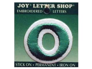 "Iron-On Letter ""O"" Embroidered 1 1/2 in. Green"