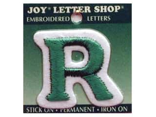 "Iron-On Letter ""R"" Embroidered 1 1/2 in. Green"