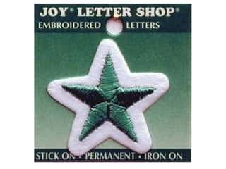 Iron-On Letter Star Embroidered 1 1/2 in. Green