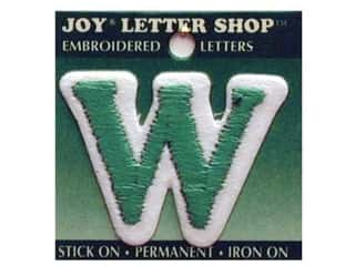 "Iron-On Letter ""W"" Embroidered 1 1/2 in. Green"