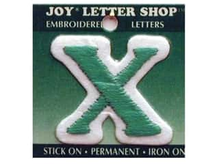 "Iron-On Letter ""X"" Embroidered 1 1/2 in. Green"