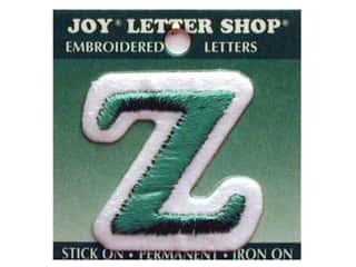"Iron-On Letter ""Z"" Embroidered 1 1/2 in. Green"