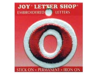 Appliques $0 - $1: Joy Letter Shop Iron On Red 0