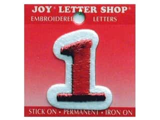 Irons Joy Letter Shop Iron On Red: Joy Letter Shop Iron On Red 1