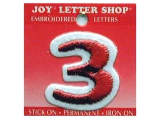 Appliques Joy Letter Shop Iron On White: Joy Letter Shop Iron On Red 3
