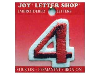 Appliques Joy Letter Shop Iron On White: Joy Letter Shop Iron On Red 4