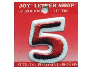 Sports Joy Letter Shop Iron On White: Joy Letter Shop Iron On Red 5