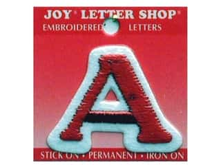 Sewing Construction ABC & 123: Joy Letter Shop Iron On Red A