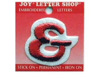 Sports Joy Letter Shop Iron On White: Joy Letter Shop Iron On Red &
