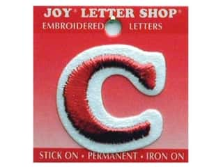 Sports Joy Letter Shop Iron On White: Joy Letter Shop Iron On Red C