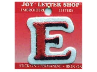 Sports Joy Letter Shop Iron On White: Joy Letter Shop Iron On Red E