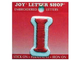 Sports Joy Letter Shop Iron On White: Joy Letter Shop Iron On Red I