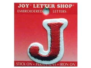 Letter Shop Iron On Red J