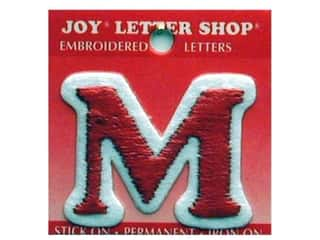 Letter Shop Iron On Red M