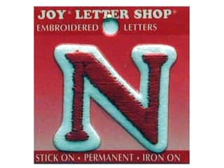 Sports Joy Letter Shop Iron On White: Joy Letter Shop Iron On Red N