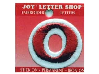 Letter Shop Iron On Red O