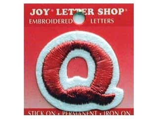 Letter Shop Iron On Red Q