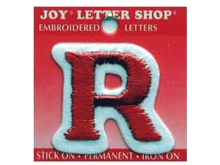 Sports Joy Letter Shop Iron On Black: Joy Letter Shop Iron On Red R