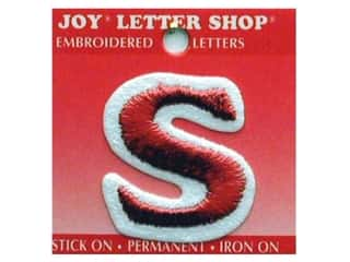 Appliques Joy Letter Shop Iron On White: Joy Letter Shop Iron On Red S