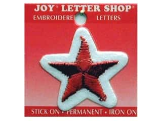 Letter Shop Iron On Red Star