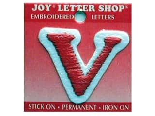 Letter Shop Iron On Red V