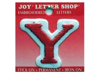 Y: Joy Letter Shop Iron On Red Y