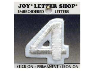 Joy Letter Shop Iron On White 4