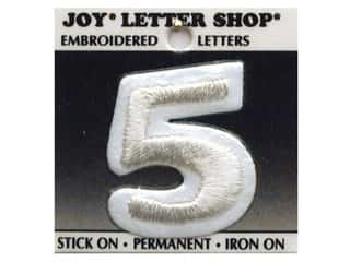 Joy Letter Shop Iron On White 5