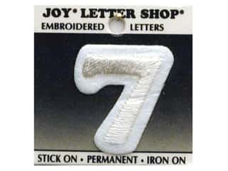 Joy Letter Shop Iron On White 7