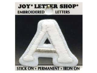 "Iron-On Letter ""A"" Embroidered 1 1/2 in. White"
